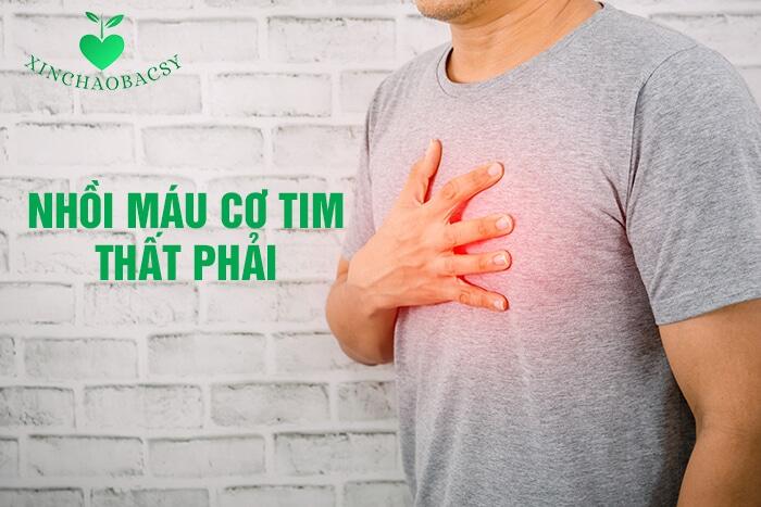 Nhồi máu cơ tim thất phải xảy ra, cần làm gì trong 6 giờ đầu?