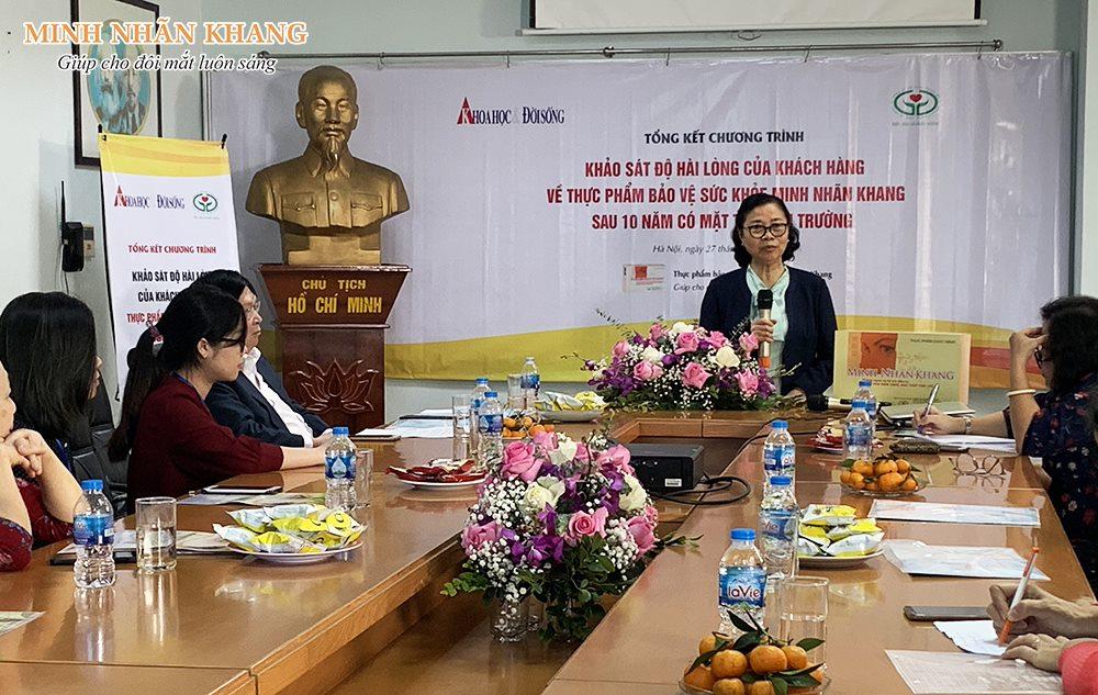 BSCKII Bùi Minh Ngọc phát biểu trong hội thảo tổng kết khảo sát Minh Nhãn Khang