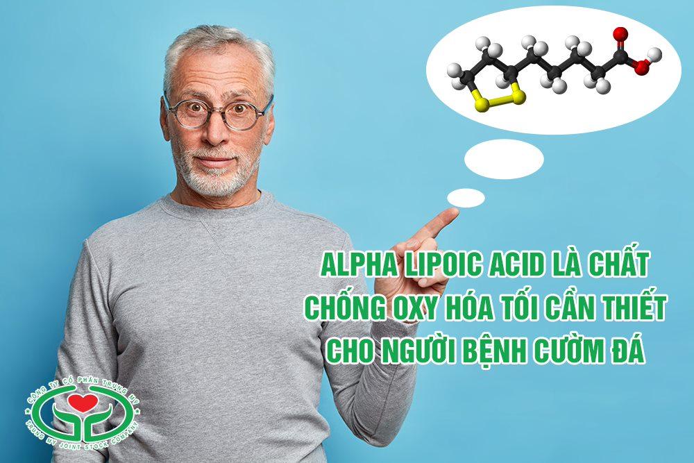 Alpha lipoic acid là chất chống oxy hóa tối ưu cho người bệnh cườm đá ở mắt