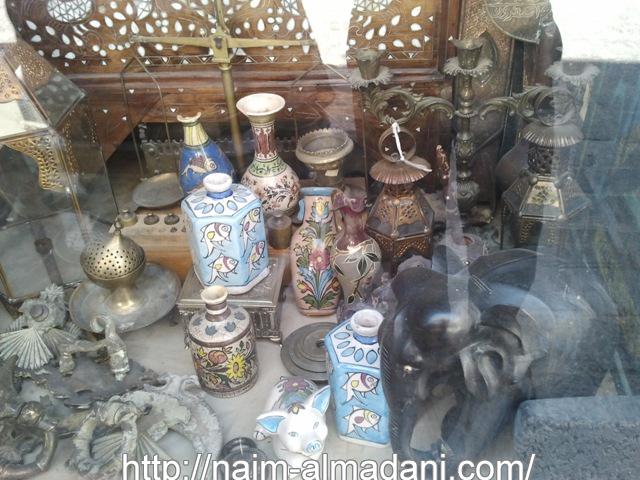 مجموعة من الصور دمشق القديمة حيث محلات المصنوعات اليدوية والتراثية